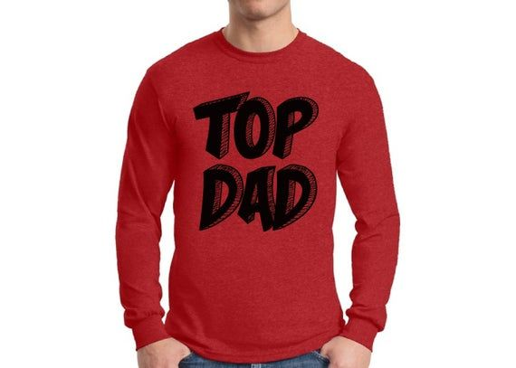 Top Dad Shirt Long Sleeve T shirt Tops Daddy Fathers Day Gift Best Dad Superhero Gift for Him Birthd #superherogifts