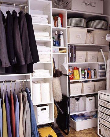 Closet Organization Tips   Multi Purpose Closet   Click Pic For 36 DIY Closet  Organizer Ideas