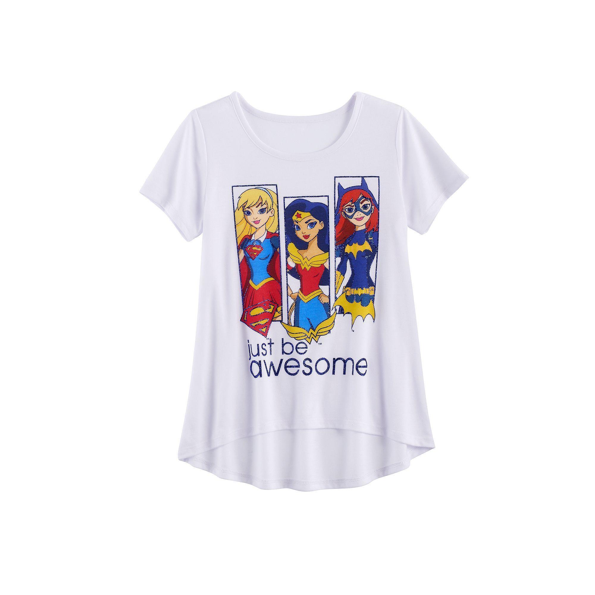 096702673 Girls 7-16 DC Comics Supergirl, Wonder Woman & Batgirl