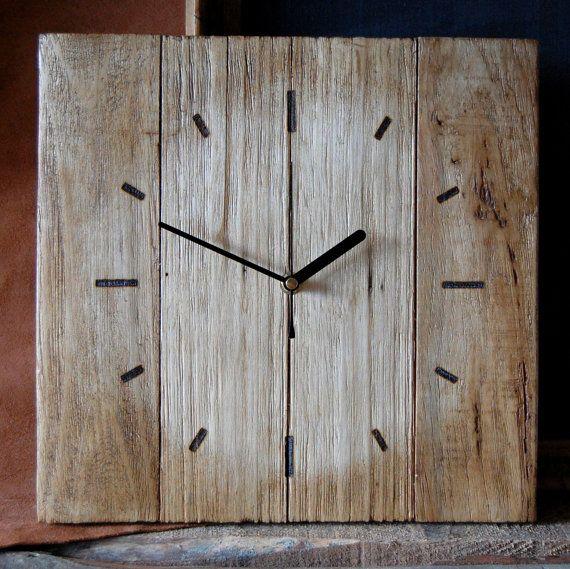pallet wood wall clock mobilier horloge murale horloge bois et palette bois. Black Bedroom Furniture Sets. Home Design Ideas