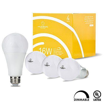 Led Light Bulbs 4 Pack 16w 100 Watt Equivalent E26 Base Dimmable Led Light Bulb Warm White 3000k Dimmable Led Lights Led Light Bulbs Bulb