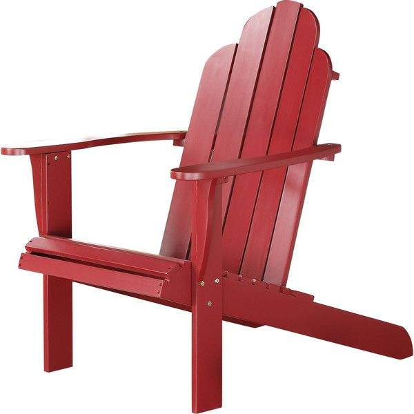 Lacey Adirondack Chair in Red | Joss & Main