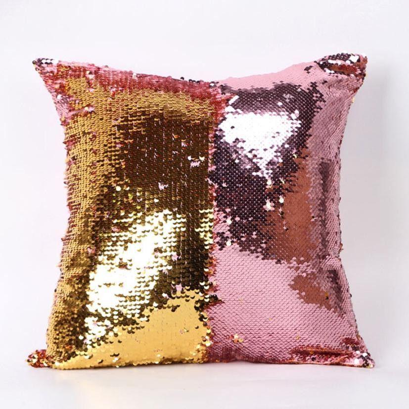 Color Changing Reversible Sequin Pillow Case Sequin Throw Pillows Decorative Pillow Cases Throw Pillows