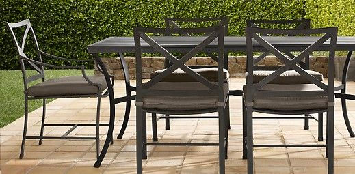 Carmel Dining Collection Rectangular Dining Set Outdoor Rooms Restoration Hardware Chair