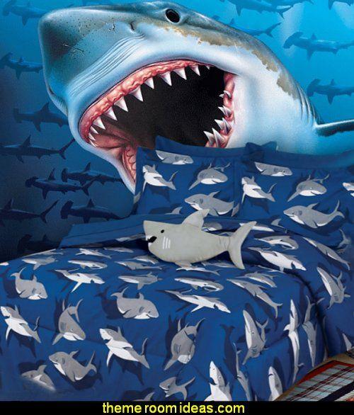 Shark Bedding Wall Mural Bedrooms Murals