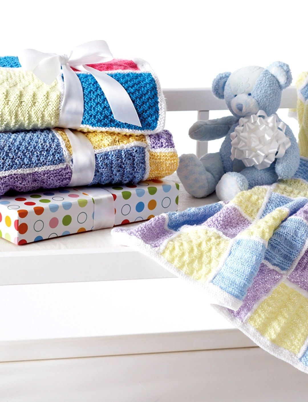 Yarnspirations.com - Bernat Baby Sampler Blankets - Patterns ...