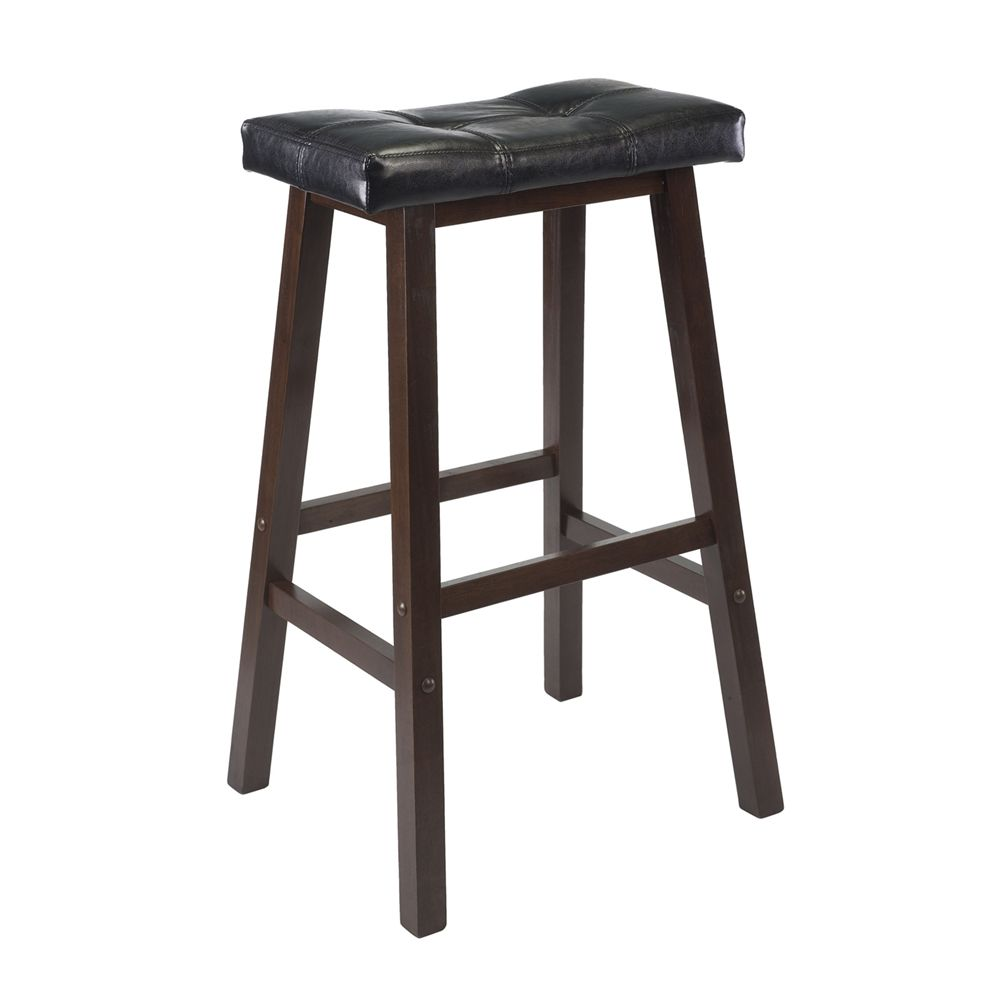 Shop Winsome Wood 9406 Mona Cushion Saddle Seat Stool At Lowes