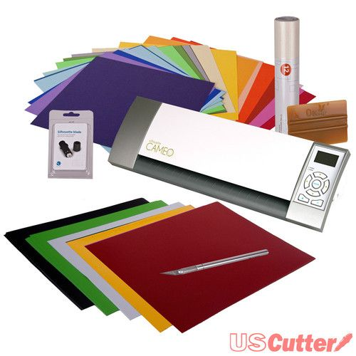 """Silhouette CAMEO Electronic Cutting Machine Die Craft Cutter - ULTIMATE BUNDLE Free Shipping to 48 US States. 12"""" Cutter, Vinyl, Tools Price:US $269.99"""
