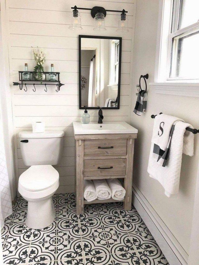47 Best Bathroom Remodel Ideas For You 11 Bathroom Farmhouse Style Small Farmhouse Bathroom Small Bathroom