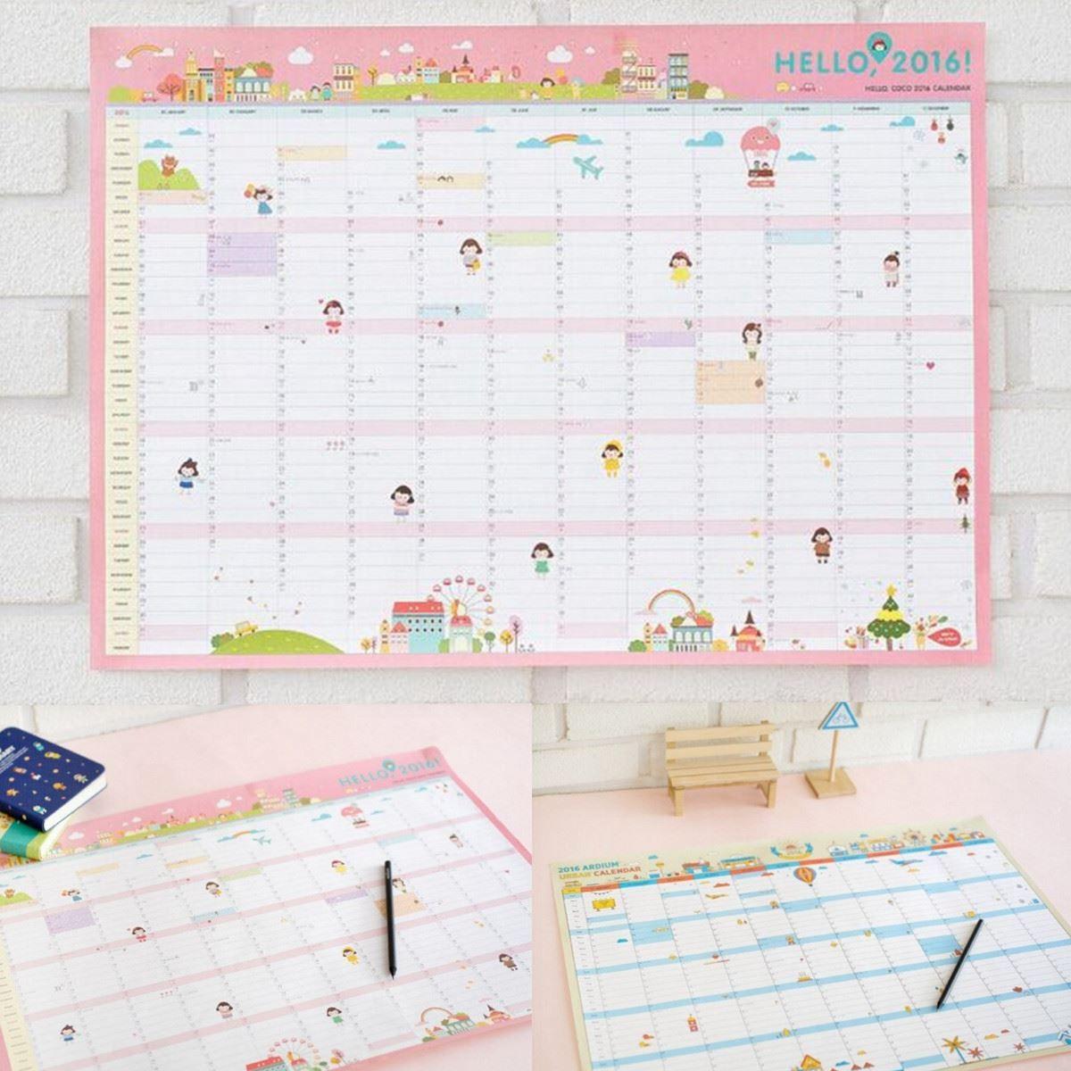 Hanging Planner Calendar : New wall monthly planner calendar paper work study