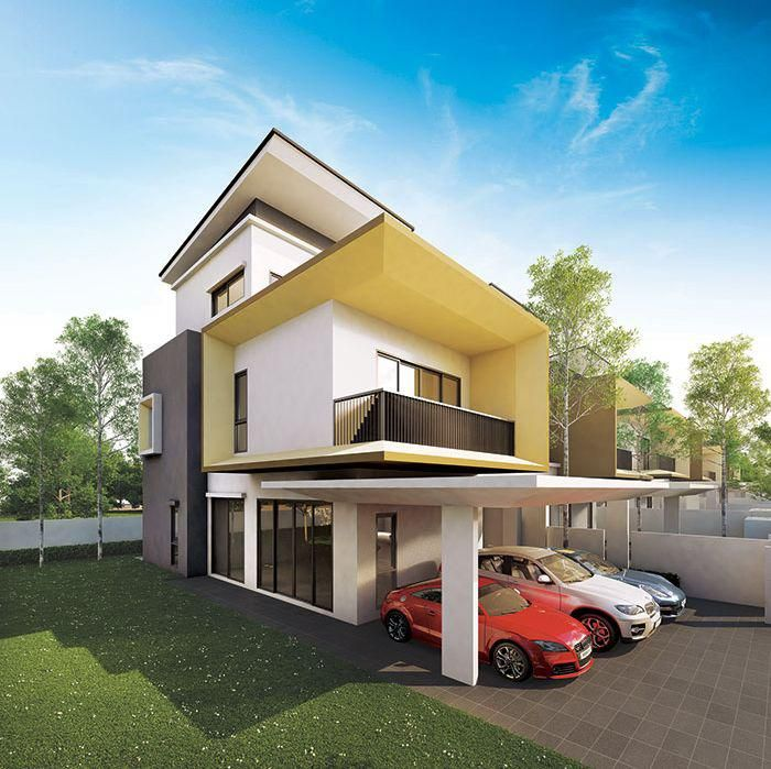 Baymont residence viscaria i 1 4 malaysia modern villas pinterest exterior rendering villas and mansion