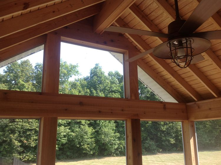 A Brand New Gable Roof Screen Porch For These Auburn In