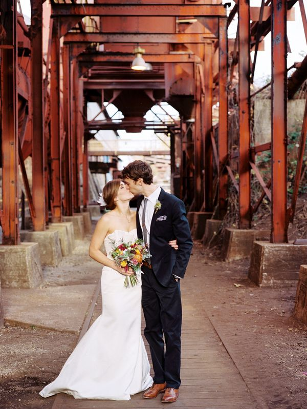 Indie chic wedding/reception in restored iron factory...LOVE!!