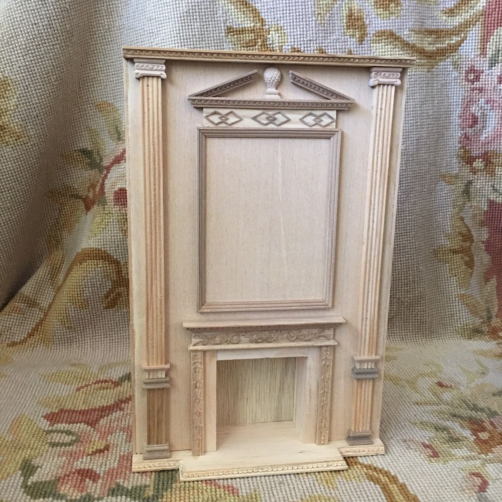 unfinished dollhouse furniture. Bespaq Bluette Meloney Dollhouse Furniture Fireplace Wall Unfinished 9002 #Bespaq