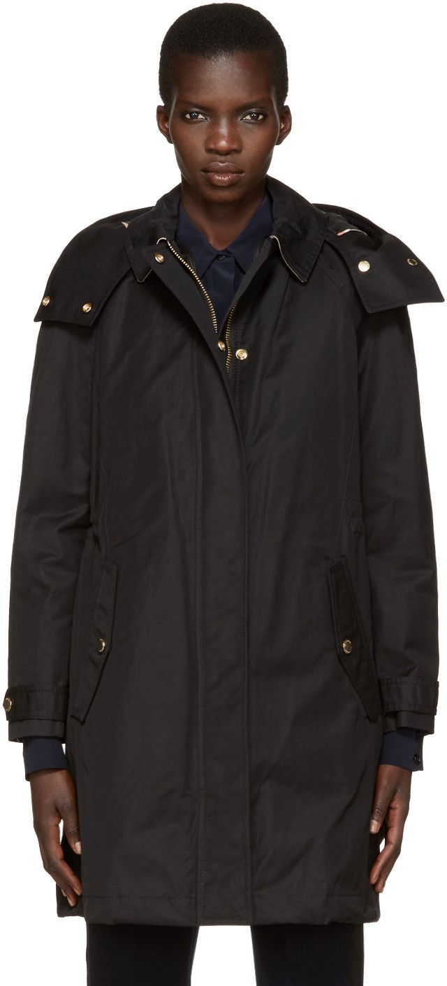 169101db1 BURBERRY Black Harlington Parka.  burberry  cloth  parka