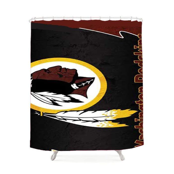 Washington Redskins Logo Wallpaper Shower Curtain
