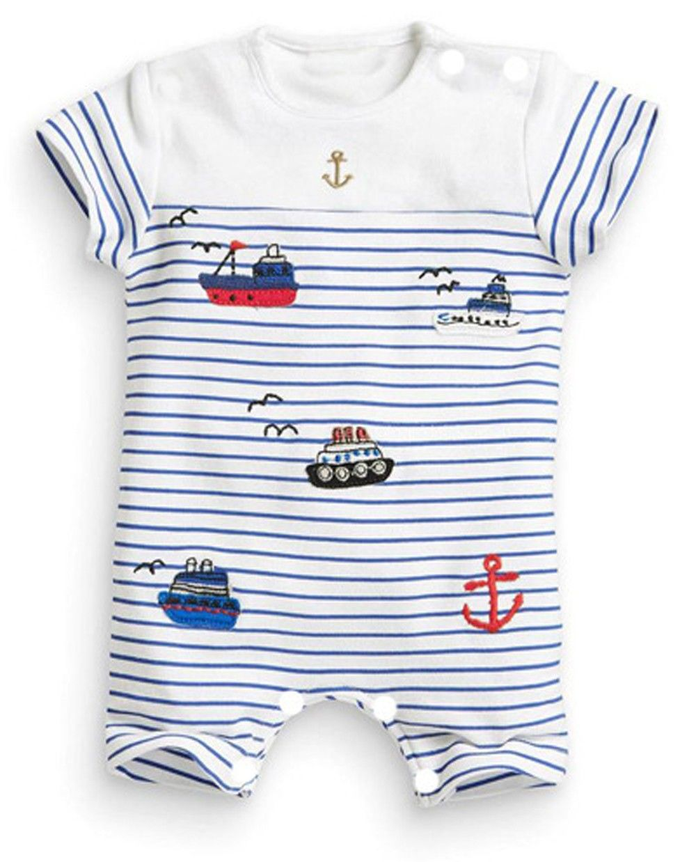 Infant Baby Boys Romper Short Sleeves Shirts Outfits Summer Jumpsuits Costumes