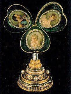 "Nikolai II, Maria Fjodorovnalle tilaama muna v.1897. n.8,2 cm ""Malvanvärinen miniatyyritaulu"""
