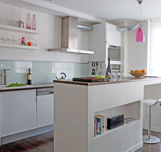 cuisine semi ouverte sur le salon am nagement. Black Bedroom Furniture Sets. Home Design Ideas