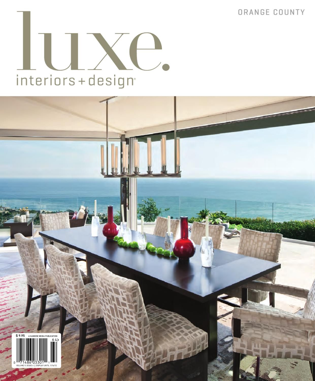 LUXE Interiors + Design Orange County 17 LUXE Interiors + Design Magazine  Is A Quarterly Journal That Showcases Luxury Residential Architecture,  Design, ...