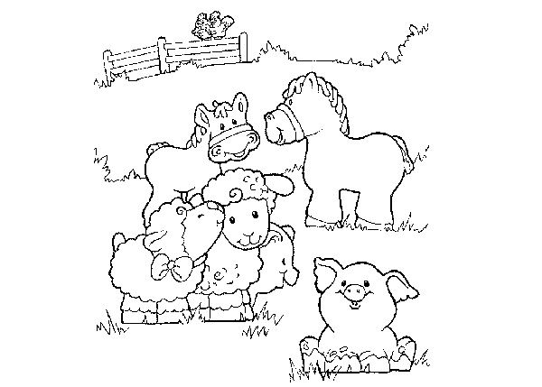 zoo animal coloring pages baby animals printables - Coloring Pictures Farm Animals