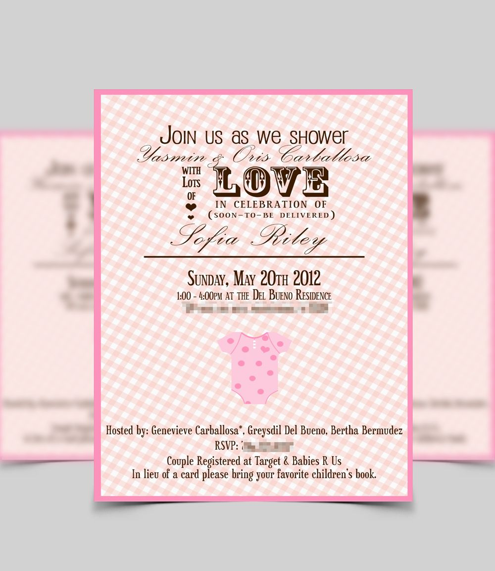 Baby shower invite by Kore Design Group. | Baby shower ...