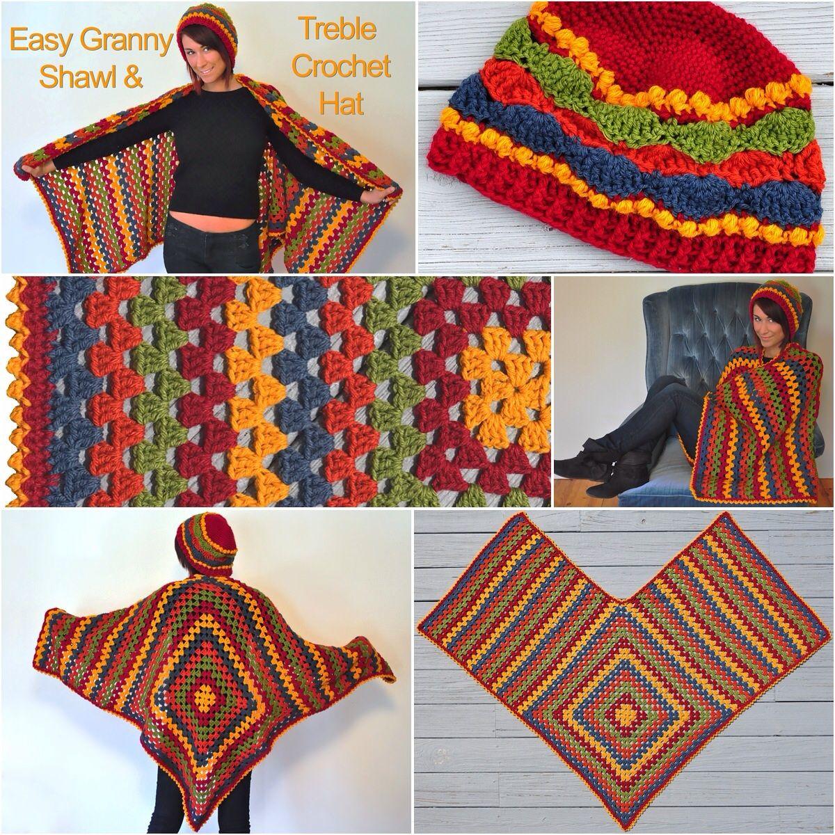 Michele Maks\' Easy #Granny #Shawl & Treble #Crochet #Hat in Lion ...