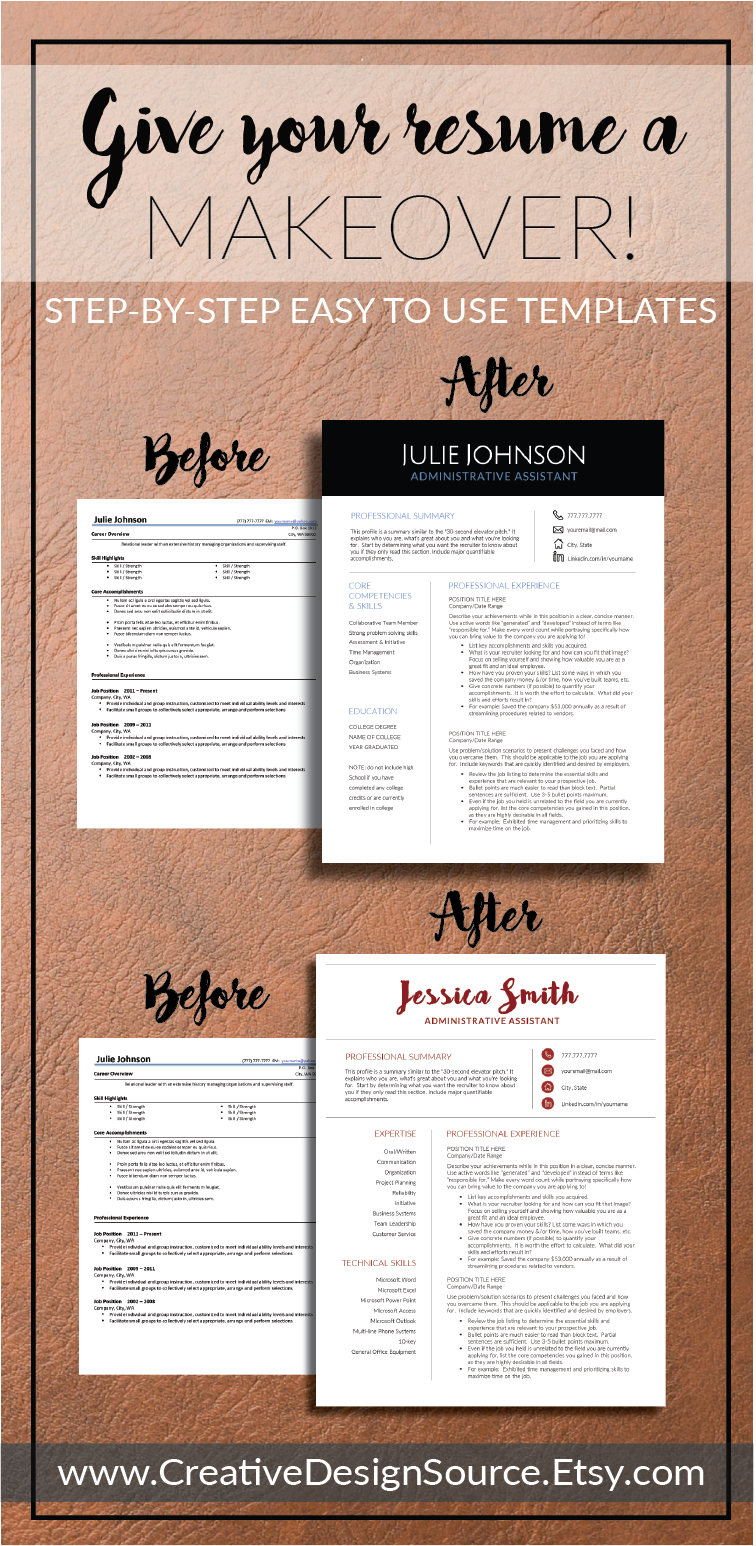 Professional CV Format Microsoft Word and Pages -- templates for ...