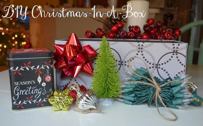 DIY Christmas-In-A-Box -- a fun, Christmas gift giving experience