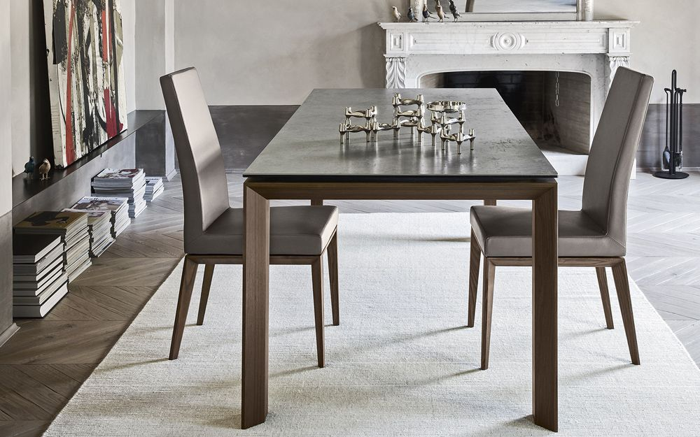 ponente table division bookshelf parisienne chairs etoile chairs very flat rug inbox wood wall units pinterest extendable dining table