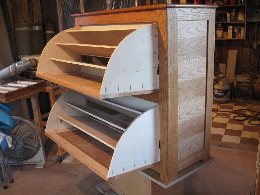 double shoe rack cabinet by david dean woodworking community woodworking. Black Bedroom Furniture Sets. Home Design Ideas