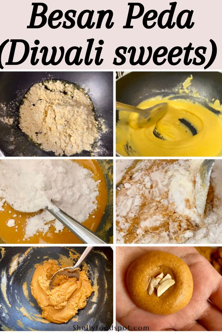 Instant besan peda recipe with milk powder, easy and delicious to make. #indiansweets