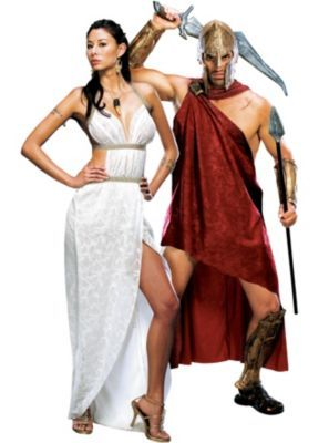 Queen Gorgo and Deluxe Spartan 300 Couples Costumes  sc 1 st  Pinterest & Queen Gorgo and Deluxe Spartan 300 Couples Costumes | My Halloween ...