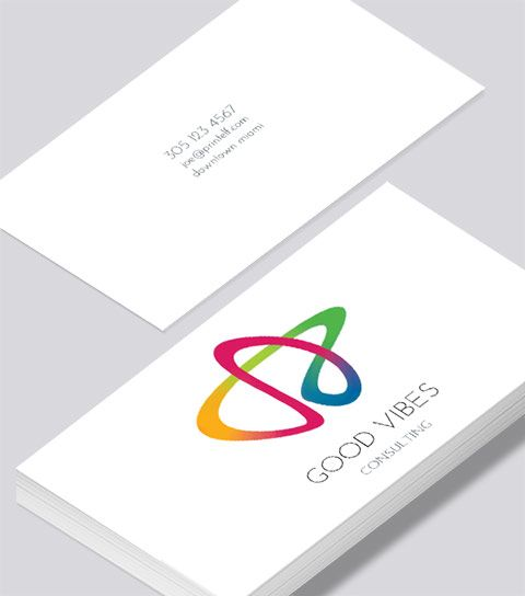 Modern contemporary business card design good vibes business card modern contemporary business card design good vibes business card reheart Image collections