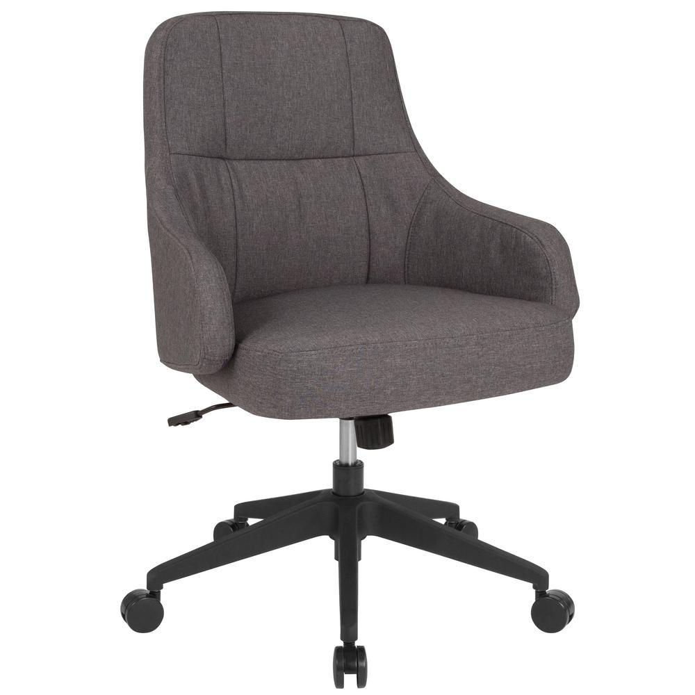 Blue Fabric Office Desk Chair