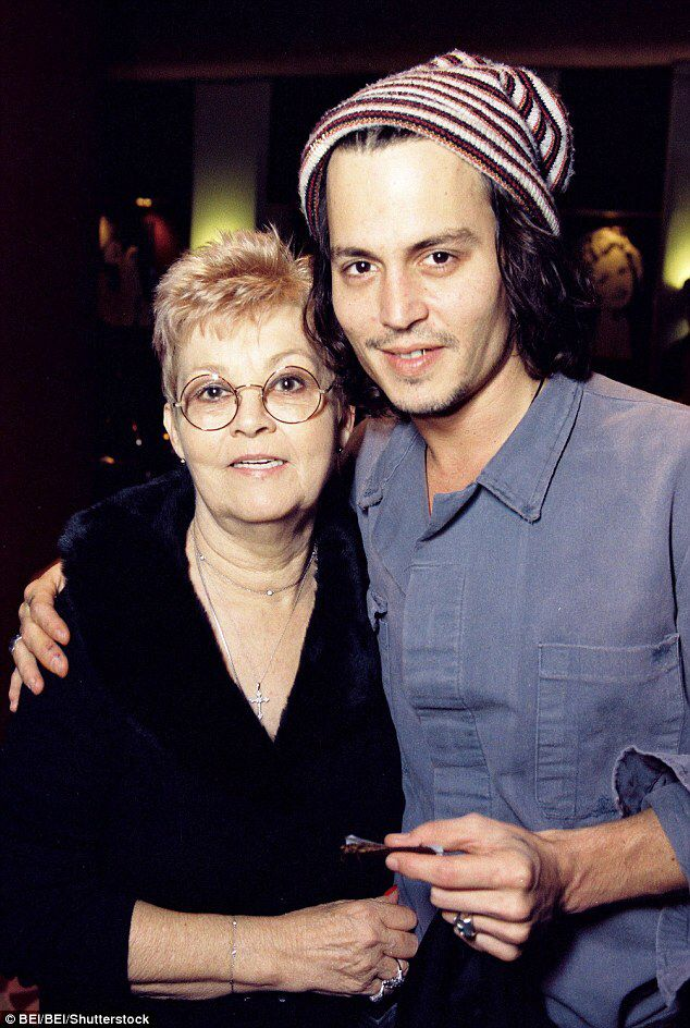 Johnny Depp and mom Betty Sue Palmer