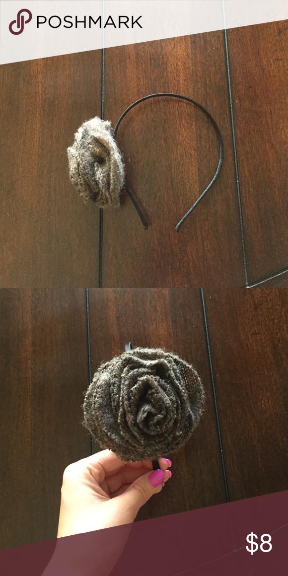 Flower headband Gray soft flower headband Accessories Hair Accessories