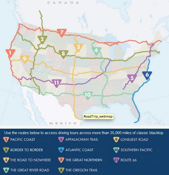 U.S. Roadtrips map. YWAM reunion road trip? | See the world | Road ...