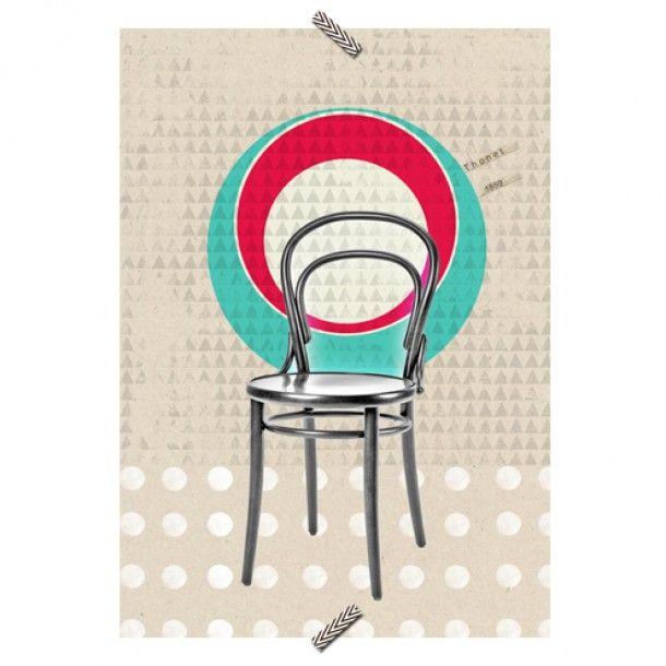 """Poster Cadeira """"Thonet"""" - Coleção Mercatto Casa e Apto 41"""