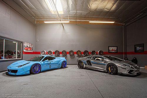 Liberty Walk 458 and GT AutoConcepts Aventador