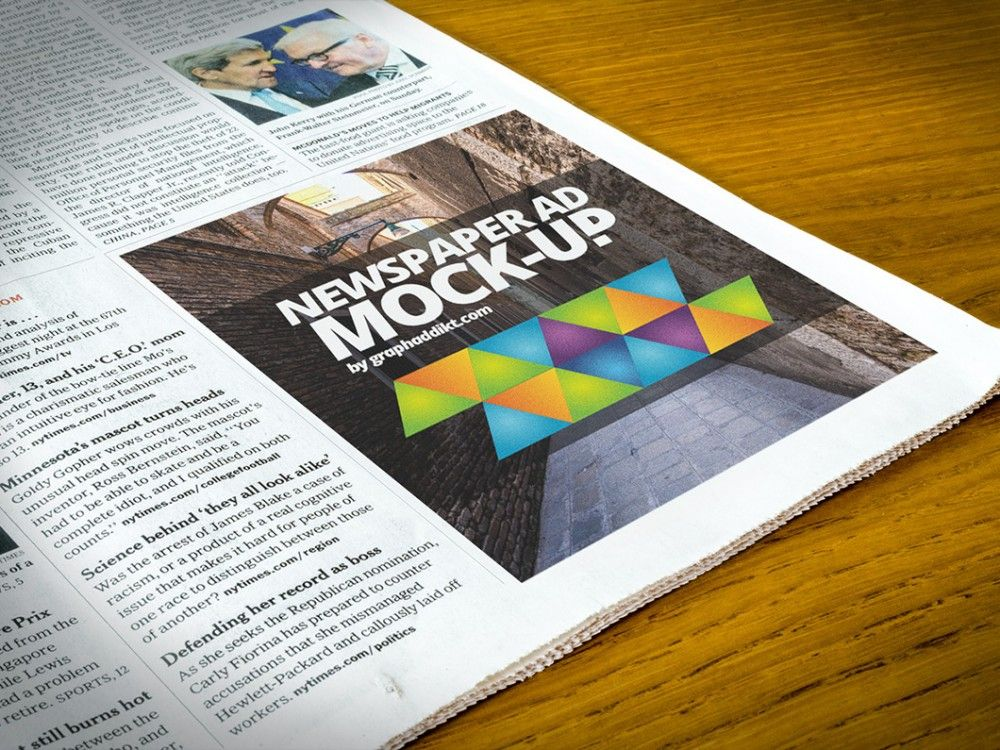 Newspaper Advert Mockup Mockup