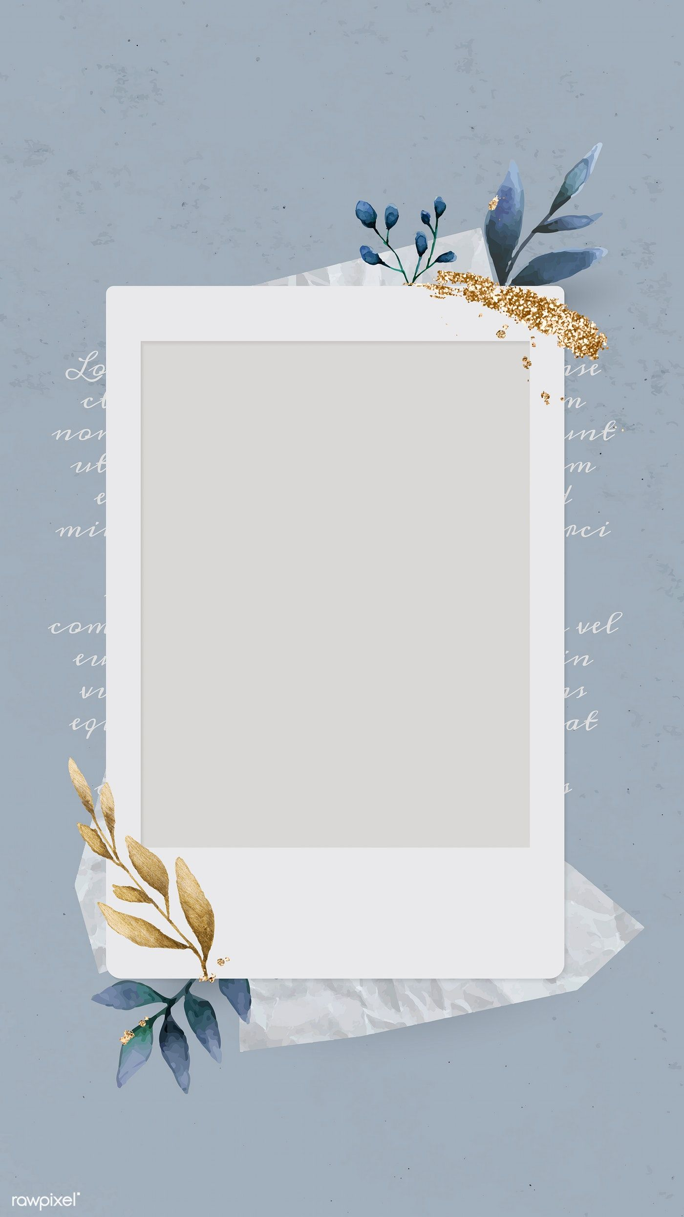Download premium vector of Christmas decorated blank instant photo frame
