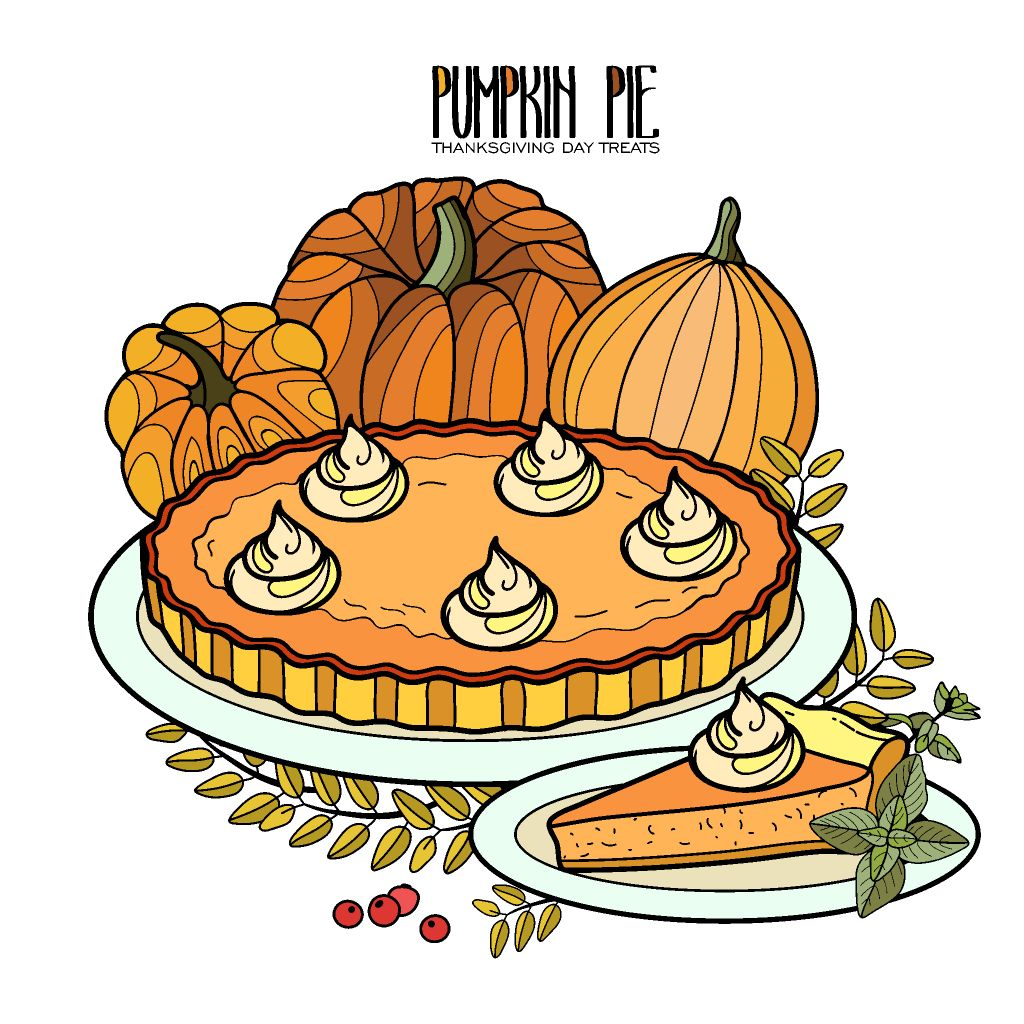 Picture Of Pumpkin Pie To Color