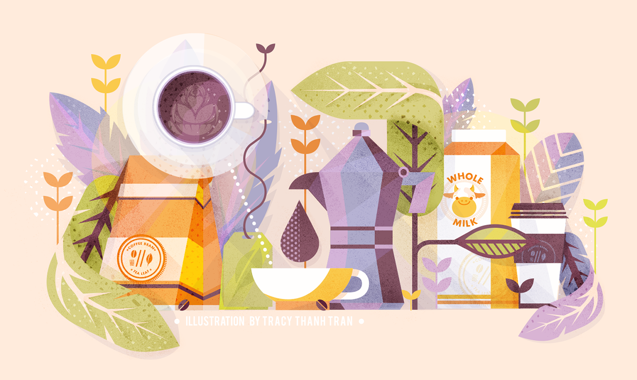 Coffee & Tea from Me to You (2015) on Behance | Векторные ...