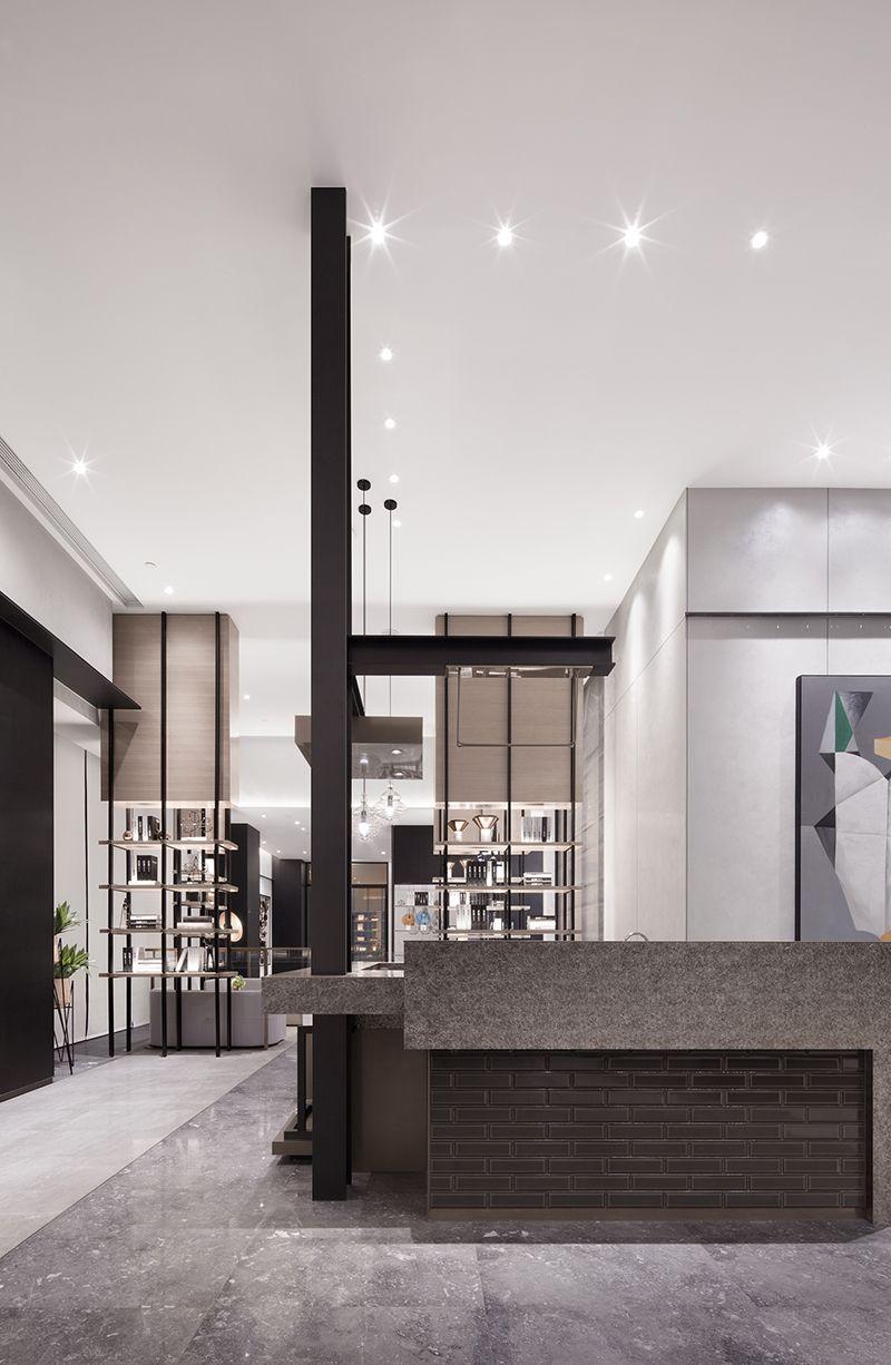 积木惠州中洲理想仓售楼中心_MYP售楼处设计 in 2020 Interior, Modern style