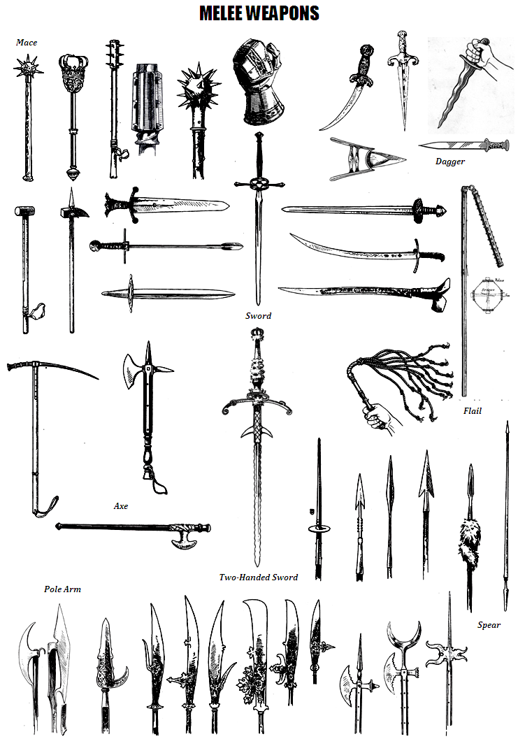 different types of medieval weapons