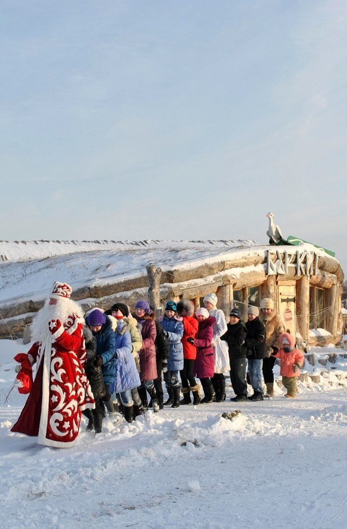 Meet Russian Father Frost in Abalak, Siberia, Russia