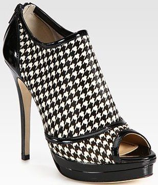 Jerome C. Rousseau - Houndstooth  Ankle Boots