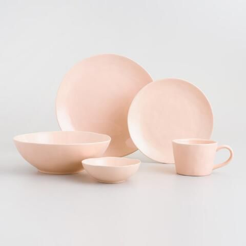 88c2187a5801 Blush Element Salad Plates Set of 4 | World Market | Home Wish List ...