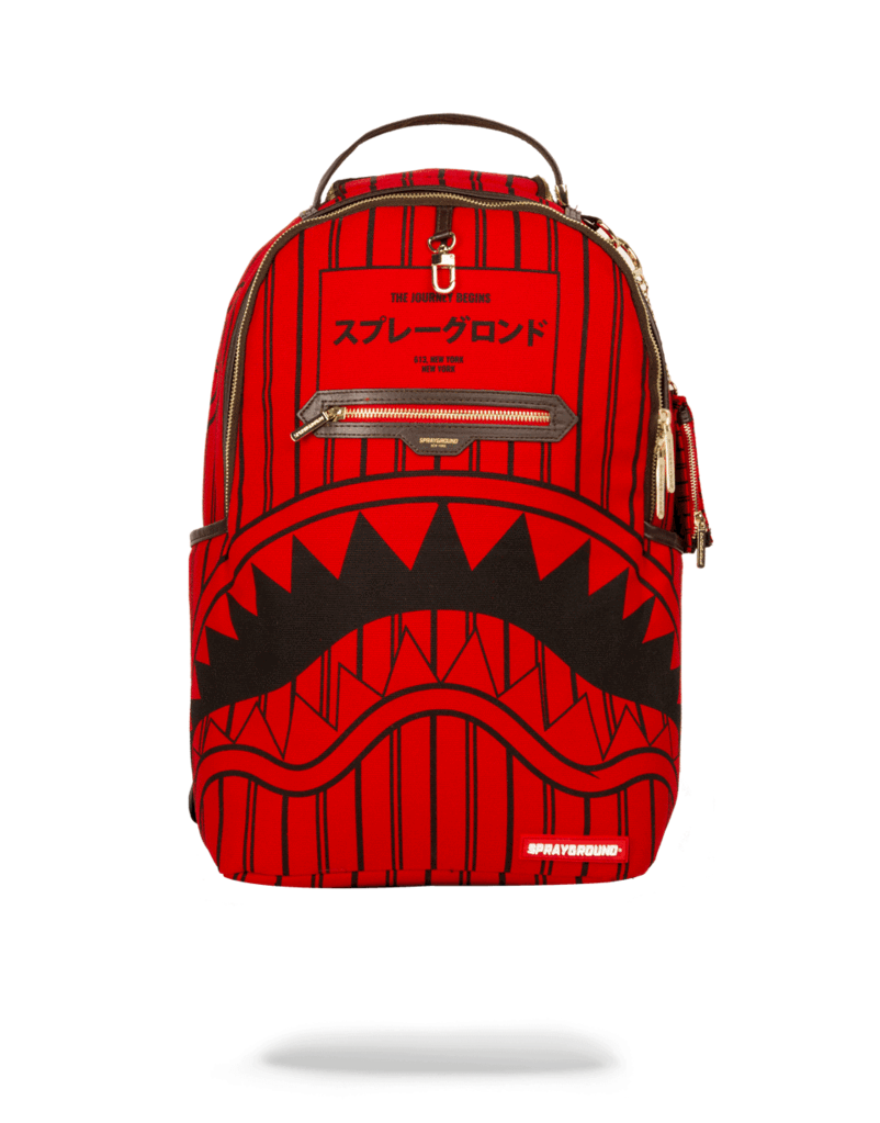 9fad92f9116 Sprayground Backpack x Reverse Sharks In Paris ( Red ) in 2019 ...